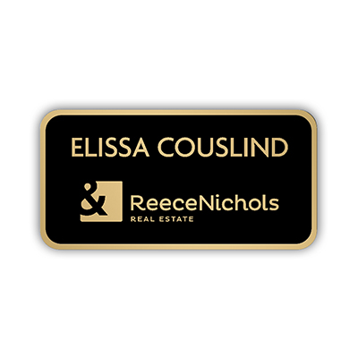 Metal Gloss Black Mini Name Badge - 3