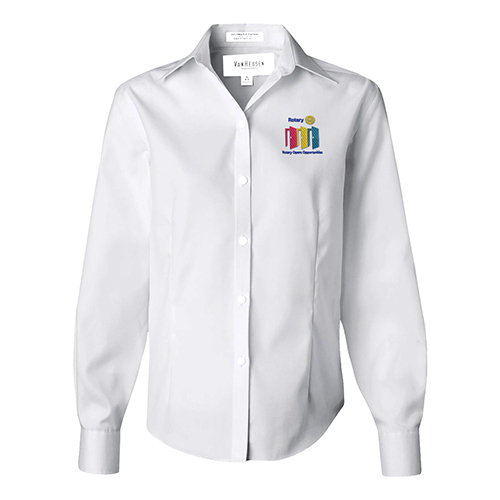 Rotary White Blouse w/ 2020-21 Rotary Theme Embroidery